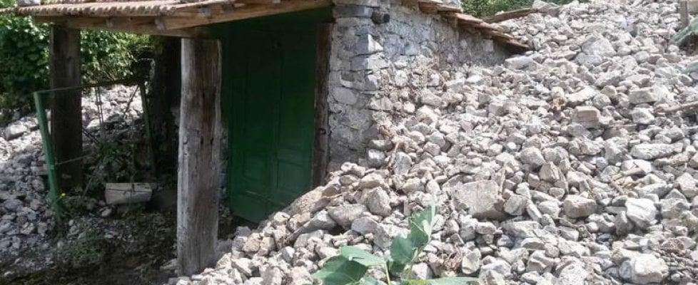 Paura in Cilento, colate di detriti ai piedi del monte Bulgheria