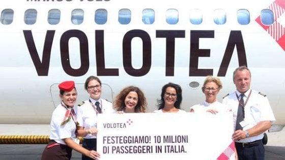 Volotea, record viaggiatori a Napoli: trasportati 10 milioni di passeggeri in Italia