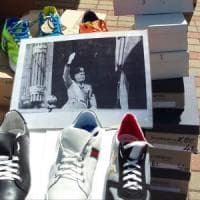 Potenza, al mercato sbuca la foto di Mussolini