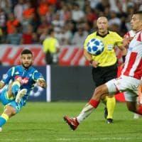 Champions: Napoli, che peccato. Domina ma non segna a Belgrado