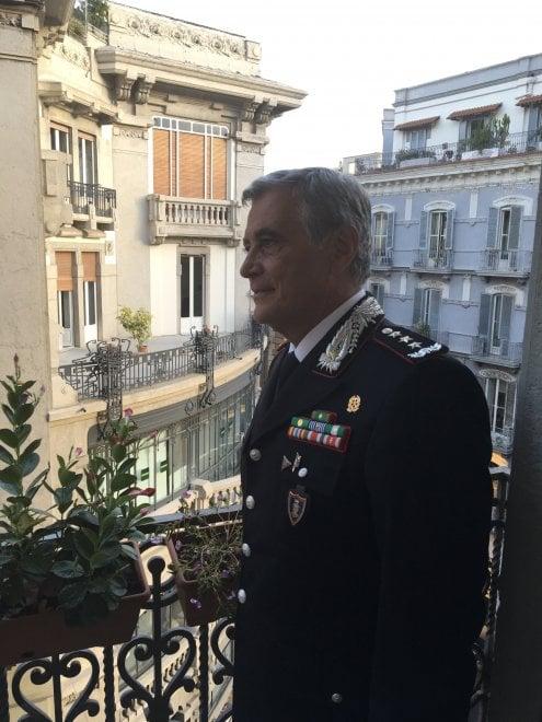 """Il generale dei carabinieri Tomasone nella redazione di """"Repubblica"""""""