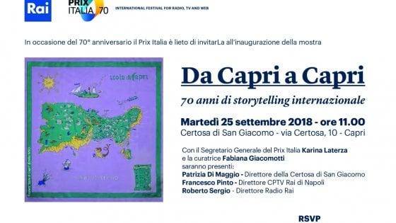 Capri, al via la 70esima edizione del Prixitalia