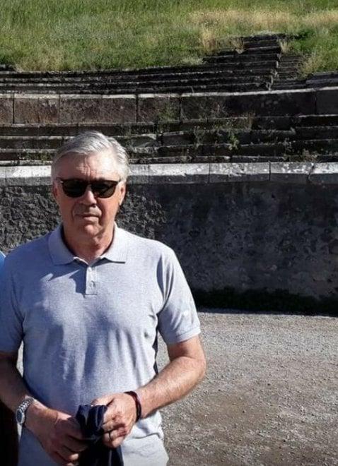 Napoli, Ancelotti trascorre un pomeriggio di relax agli scavi di Pompei