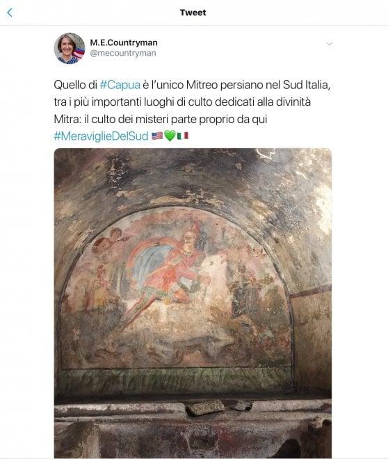 Napoli, la console Usa affascinata dal Mitreo di Capua