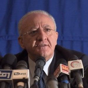 """Bagnoli, De Luca: """"La Regione ha espresso netto dissenso su Floro Flores commissario"""""""