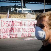 """Napoli, la protesta dell'area est, stop ai camion: """"No al sito di stoccaggio"""""""