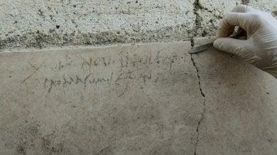 Pompei, un'iscrizione cambia la data    /Vd     /Ft     dell'eruzione: avvenne il 24 ottobre 79 d.C.