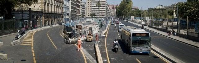 Riviera di Chiaia, riapre la carreggiata    in direzione piazza Vittoria