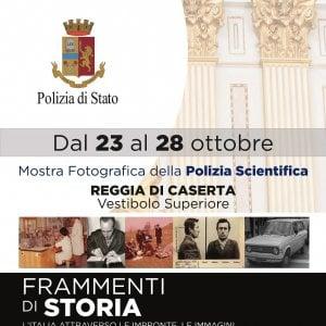 Reggia di Caserta, l'Italia in mostra attraverso le impronte, le immagini e i sopralluoghi della polizia scientifica