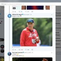 Psg-Napoli, siparietto su Twitter: Cavani saluta la sua ex squadra, Ancelotti sorseggia il caffè