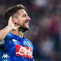 Udinese-Napoli, rigore di Mertens: 0-2