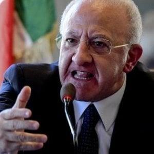 """Condono a Ischia, De Luca contro il governo: """"Irresponsabilità totale"""""""