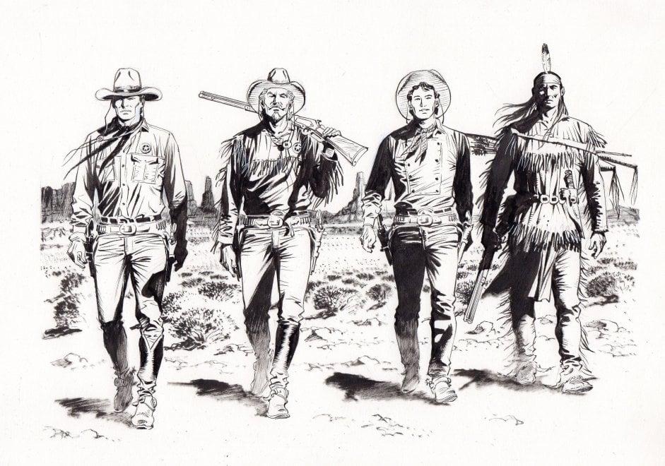 Tex 70, l'omaggio di Maurizio Dotti