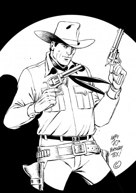 Tex 70, l'omaggio di Onofrio Catacchio