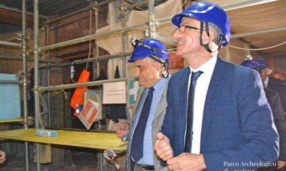 Bonisoli visita il parco archeologico di Ercolano