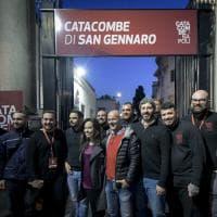 """Catacombe Napoli, Fico incontra i giovani: """"Sono con voi"""""""