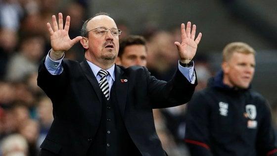 """Napoli, Benitez esalta Ancelotti: """"Può arrivare in fondo a tutte le competizioni, fa giocare tutta la rosa"""""""