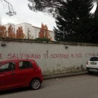 Scritte offensive contro Salvini a Benevento