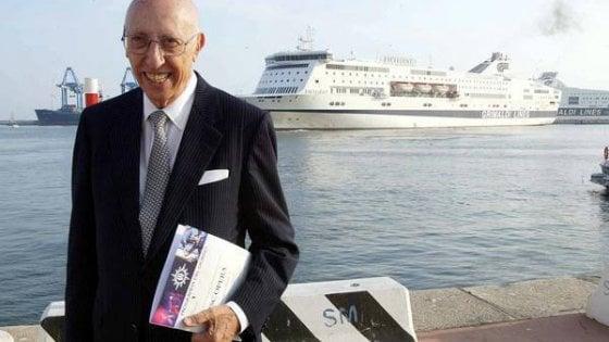 Addio ad Aldo Grimaldi, l'armatore è morto a 96 anni