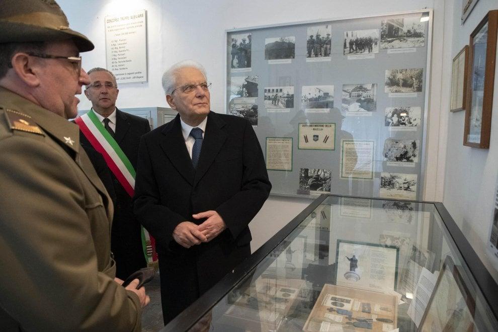 Il presidente Mattarella alla cerimonia dei 75 anni della battaglia di Mignano Montelungo