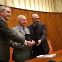 Il ministro Savona a Caserta, lectio magistralis a Confindustria