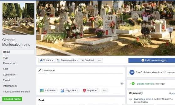 """Montecalvo Irpino, su Facebook la pagina del cimitero:  """"Così tutti sono aggiornati sui decessi"""""""