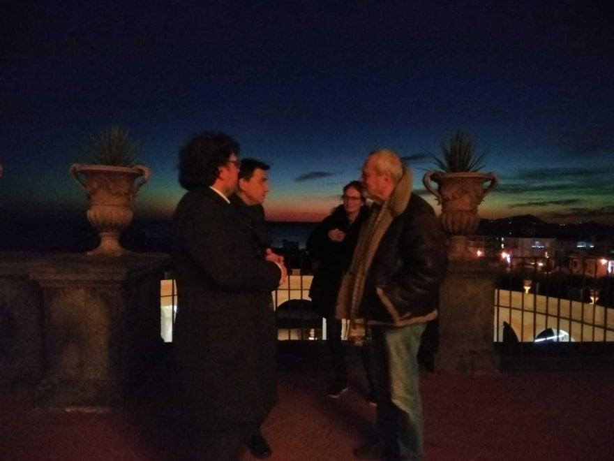 Ercolano, Terry Gilliam in visita a Villa Campolieto