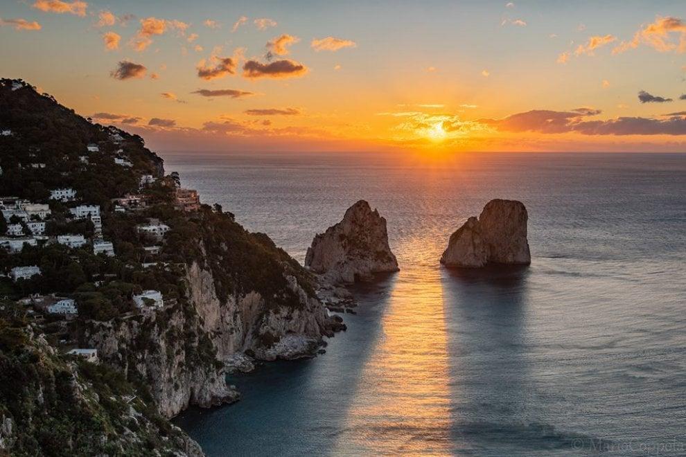 Capri, la prima alba dell'anno è uno spettacolo