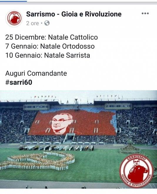 Maurizio Sarri compie 60 anni. E i tifosi celebrano su fb il Natale Sarrista