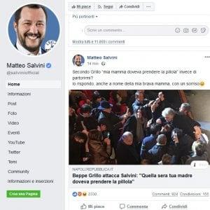 """L'ironia di Salvini: """"Sorrido a Grillo, anche a nome di mia madre"""""""