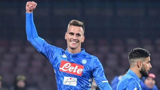 Il Napoli supera il Sassuolo e conquista i quarti di Coppa Italia: Milik e Koulibaly protagonisti