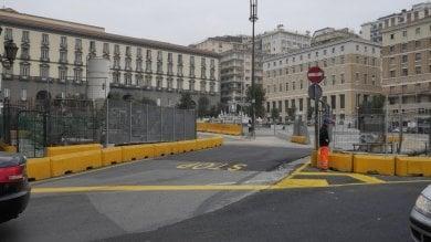 Lavori per il metrò di Napoli, nuovo dispositivo di traffico in piazza Municipio e a Chiaia