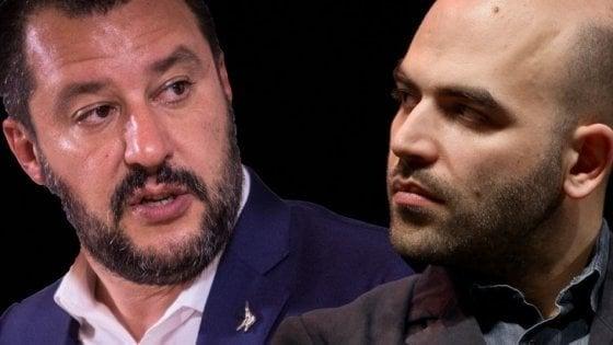 """Salvini ad Afragola dopo bombe ai negozi, Saviano: """"Inutile passerella, magari in divisa"""""""