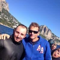 Apnea, a Sorrento in acqua con Pelizzari