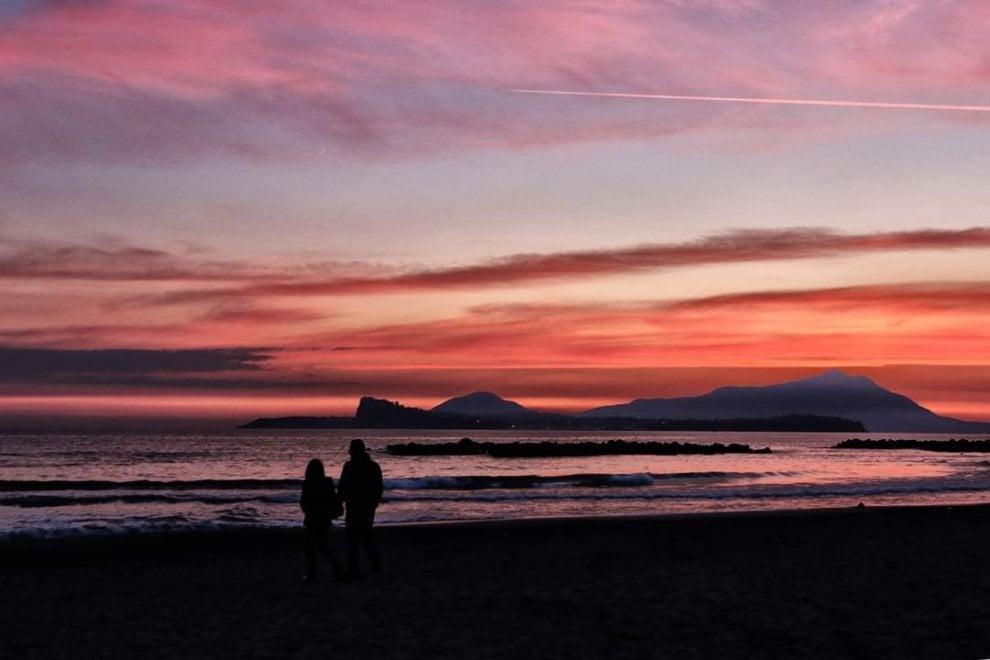Da Capo Miseno vista isole: il tramonto è un incanto
