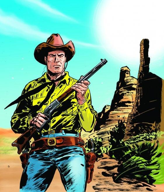 Tex 700, il disegno tributo di Lorenzo Ruggiero, i colori di Massimo Rocca