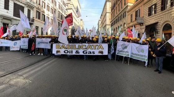 Potenza, industriali lucano a Roma per la manifestazione dei sindacati