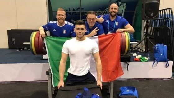Potenza, solleva 170 chili: nuovo record mondiale per l'atleta paralimpico Donato Telesca