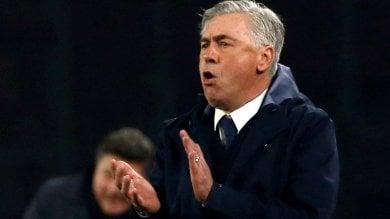 """Napoli, la carica di Ancelotti per l'Europa League: """"Voglio arrivare sino alla fine""""    /Ft     La sfida di Meret: """"Donnarumma? E' forte ma non mi sento inferiore a nessuno"""" / Vd"""