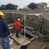 Paestum, riprendono gli scavi alle spalle del Tempio di Nettuno