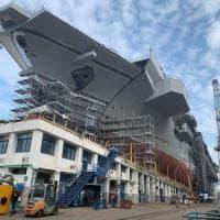 Il Capo di Stato maggiore della Marina nei cantieri di Castellammare per nave