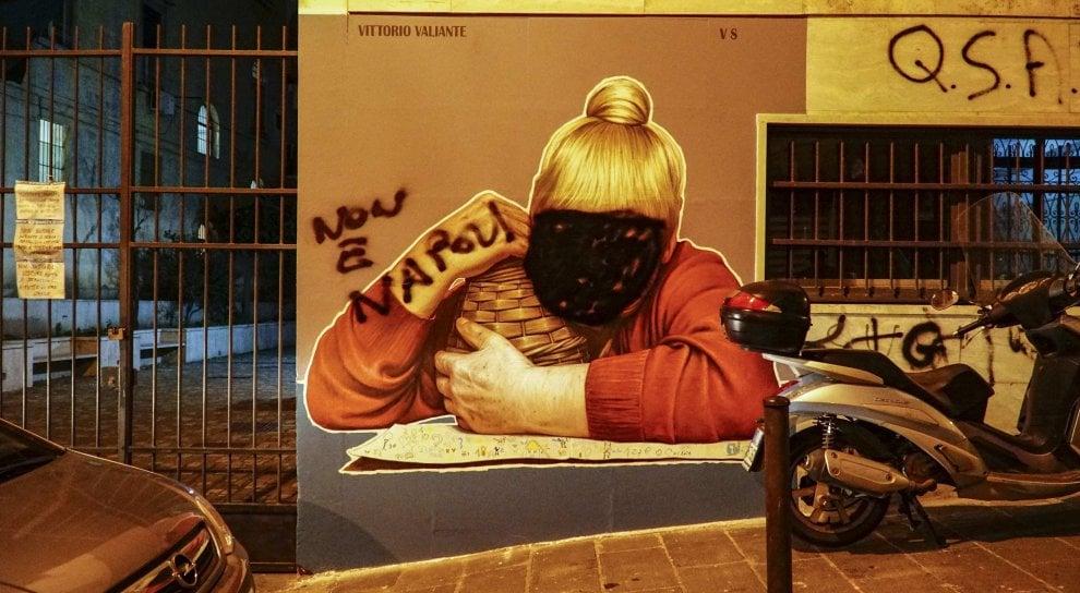"""Vandalizzato il murale della""""Tarantina"""""""