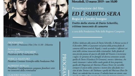 """""""Ed è subito sera"""", il film su Dario Scherillo in anteprima nazionale alla Camera dei deputati"""