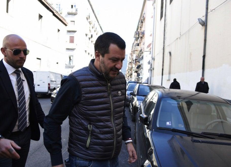 Salvini a Napoli, prima tappa il quartiere Vasto