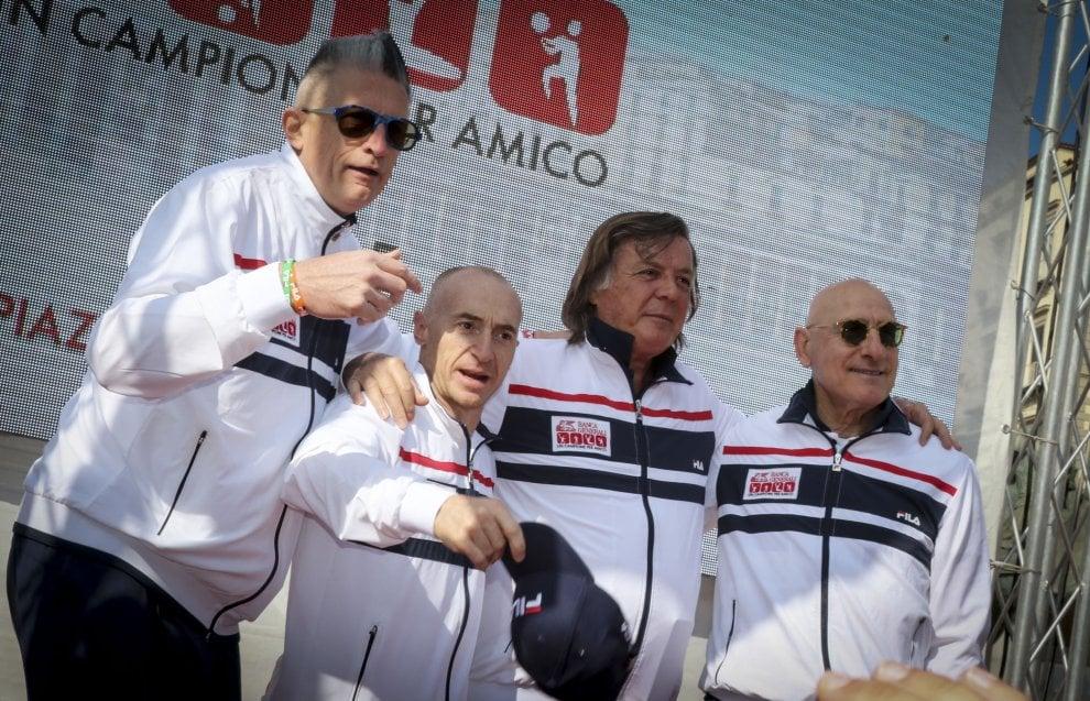 Panatta, Chechi, Graziani e Lucchetta, che show al Plebiscito