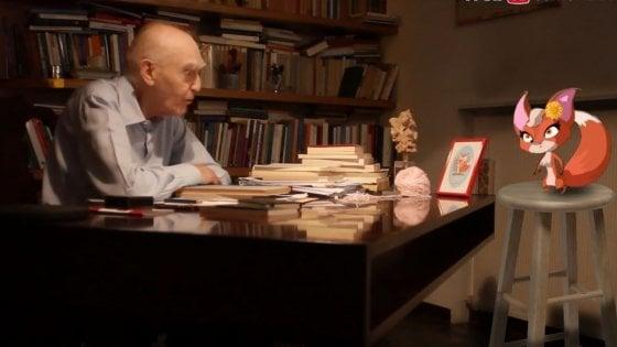 Aldo Masullo, per festeggiare i 96 anni parla di filosofia ai bambini con la volpe Sophia