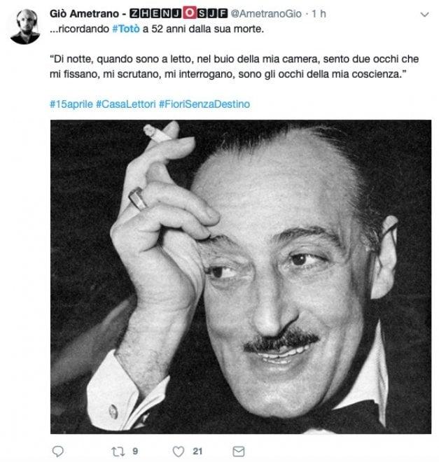 """Totò, il ricordo dei fan a 52 anni dalla morte: """"Aspettiamo il museo in tuo onore a Napoli"""""""