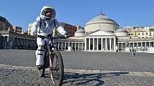 Napoli, astronauta in bici: al via le riprese dello spot del Napoli bike festival