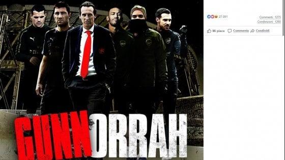 L'Arsenal festeggia dopo Napoli ed evoca Gomorra