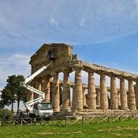 Paestum, via al restauro del tempio di Atena